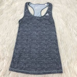 Adidas Techfit Gray Heathered Back Cutout Tank